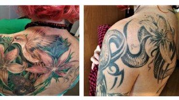 Předělávka tetování - kolibřík